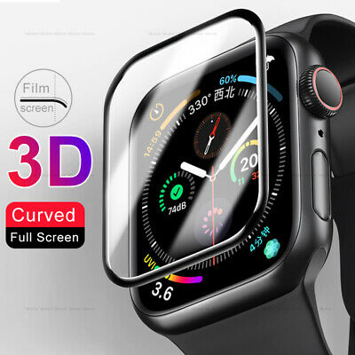$ CDN4.62 • Buy For Apple Watch Series 6 SE Full Cover Tempered Glass Screen Protector 40/44 Mm