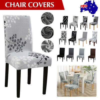 AU3.28 • Buy 1-8 PCS Dining Chair Covers Spandex Cover Stretch Washable Wedding Banquet Party