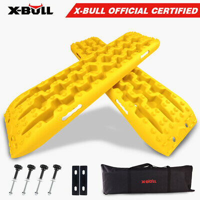 AU89.90 • Buy X-BULL Recovery Tracks Sand Snow Grass Truck 4WD Accessories 1Pair Yellow Gen3.0