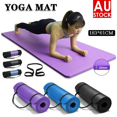 AU20.99 • Buy 6-20CM Thick Yoga Mat Pad EVA NBR Nonslip Exercise Fitness Pilate Gym Durable AU