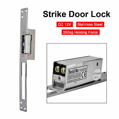 £20.88 • Buy DC 12V Stainless Steel Electric Strike Lock For Door Entry Access Control System