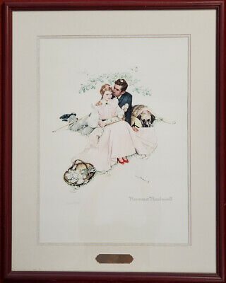"""$ CDN260.01 • Buy Norman Rockwell Lithograph """"Flowers In Tender Bloom"""", Numbered, COA, PA5496"""