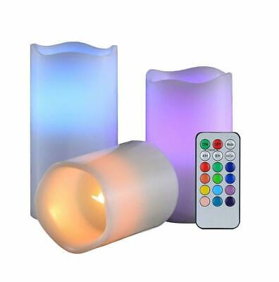 3x Fake Candle With Remote Timer Flameless Patry Decor  • 7.99£