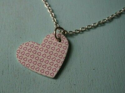 £5.95 • Buy Cute Love Heart Necklace Pendant Long Chain Retro Indie Emo Gothic Kitsch