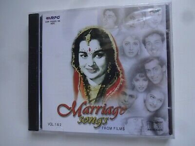 MARRIAGE SONGS FROM FILMS ~ 2-Disc Bollywood Soundtrack Hindi CD ~ 1999 ~ New • 7.95£