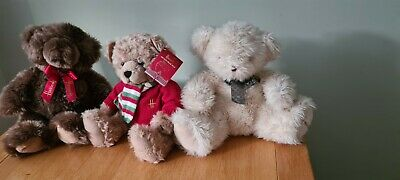New 3x Harrods Bears.Harrods Annual Christmas Bear 2010 Archie With Tag.MINT!! • 10£