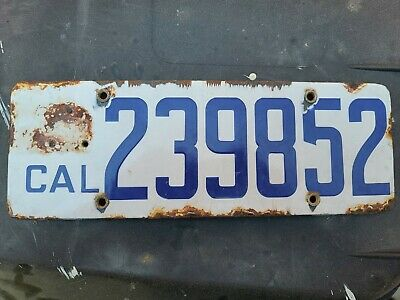 $ CDN105.34 • Buy 1917 California Porcelain License Plate 239852 Vintage