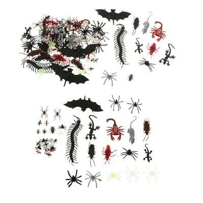 £3.87 • Buy 44/150 PCS Plastic Realistic Bugs Lifelike Insects Figures Toys Assorted Spider