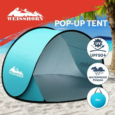 AU34.95 • Buy Weisshorn Pop Up Beach Tent Camping Portable Sun Shade Shelter Fishing