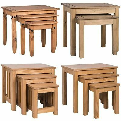 2 Or  3 Nest Of Tables  Table Units Wood Living Room Side Lamp Coffee Furniture • 54.99£