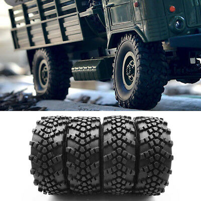 $4.99 • Buy 4Pcs RC Car Durable Rubber Tires Wheel For 1/16 WPL B36 6WD Military Truck Set