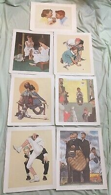 "$ CDN13.32 • Buy Lot Of 6 Norman Rockwell Canvas Prints 15 1/2""x13 1/16"" & 1 Bonus Paper Print"