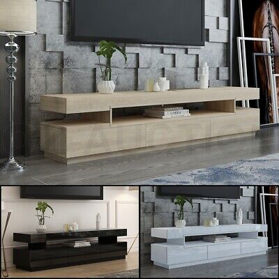 AU229.95 • Buy 160/200cm TV Stand Bench Table Cabinet Entertainment Unit 3 Push-Opened Drawers
