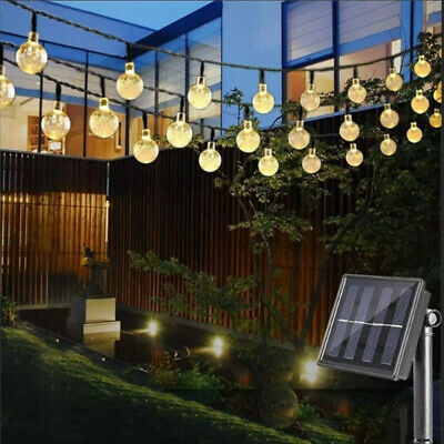30 LED Ball Solar Party Fairy Outdoor String Lights For Patio Garden Warm White • 6.95£