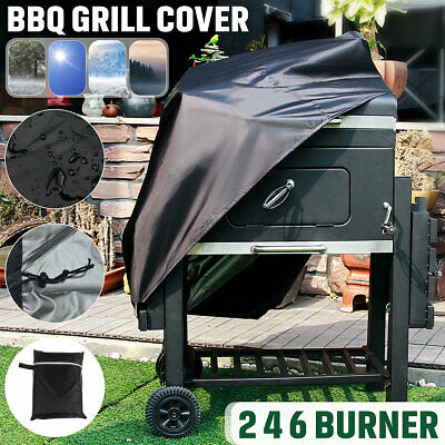 AU20.89 • Buy BBQ Cover 2 4 6 Burner Waterproof Outdoor Gas Charcoal Barbecue Grill Protector