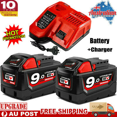 AU37.99 • Buy 9AH M18B9 For MILWAUKEE M18 18V Lithium Battery 48-11-1828 48-11-1890 Or Charger
