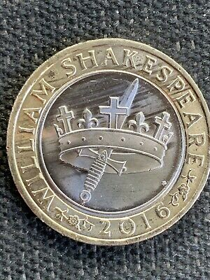 2016 William Shakespeare Histories Sword Crown £2 Coin  • 3.99£