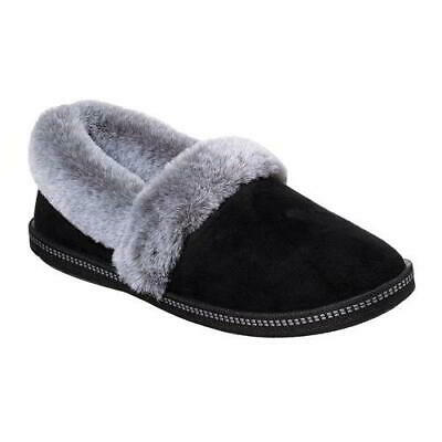 Skechers Cozy Campfire Womens Ladies Black Slip On Memory Foam Slippers Size 4-8 • 31.49£