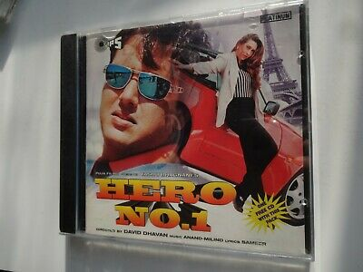 HERO No 1 ~ Bollywood Soundtrack Hindi CD ~ Anand Milind ~ 1996 • 14.95£