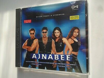 AJNABEE ~ 2-Disc Bollywood Soundtrack Hindi CD ~ Anu Malik ~ 2001 • 9.95£