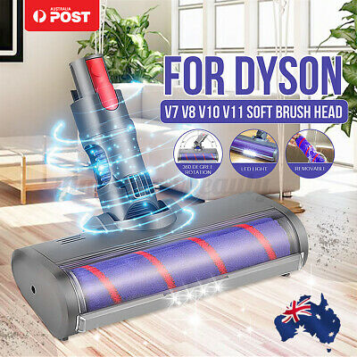 AU53.99 • Buy For Dyson V7 V8 V10 V11 Led Fluffy Soft Roller Brush Head Floor Vaccum Cleaner