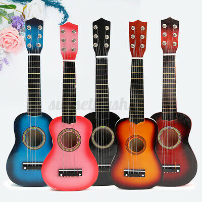 21''childrens Kids Wooden Acoustic Guitar Instrument Musical Child Toy Xmas Gift • 16.94£