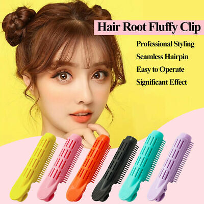 6PCS Volumizing Hair Root Clip Curler Roller Wave Fluffy Clip Styling Tool • 6.99£