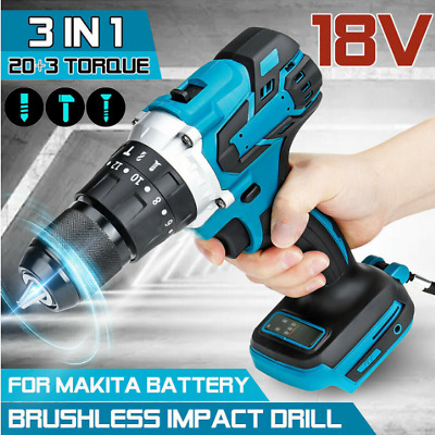 18V Electric Impact Wrench Brushless Cordless Replacement For Makita Battery UK • 25.99£