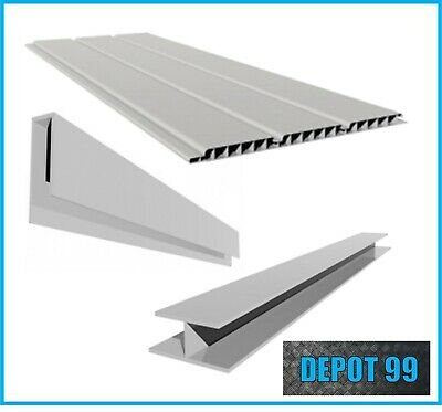 White 300mm Hollow Soffit Board (2 X 2.5M) - Trims Available Separately- • 19.60£