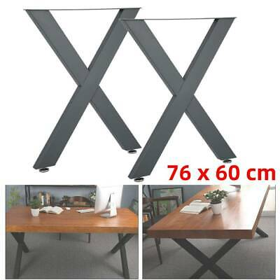 Set Of 2 Metal Table Bench Legs Frame Retro Industrial Rustic Desk Base Stand • 48.89£