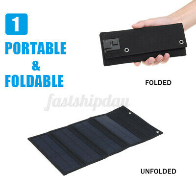 30W Foldable Solar Panel 10in1 USB Charger Phone Charge Outdoor Travel   T • 13.63£