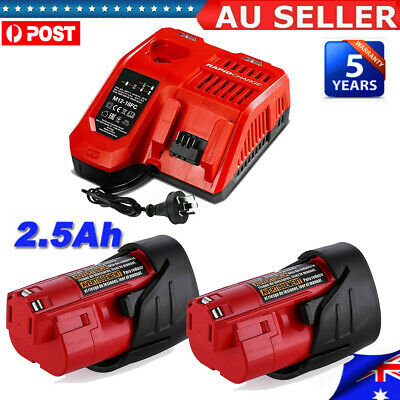 AU14.99 • Buy For Milwaukee 12V M12 Battery M12B2 XC2.5Ah Li-Ion Battery 48-11-2430 Or Charger