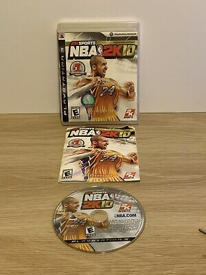 AU14.95 • Buy PS3 - NBA 2K10 - KOBE BRYANT COVER - 10th Anniversary Edition - Complete