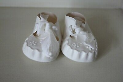 Cinderella Vintage 1960s Baby Dolls White Ribbon Shoes Size 3 For Pedigree Etc  • 3.95£