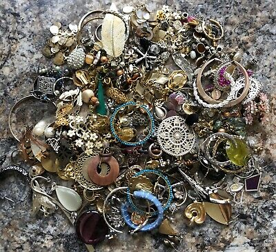 Joblot Costume Jewellery Earrings 740 Grams Bundle /   Dress Up  Craft Wear Mix • 0.99£
