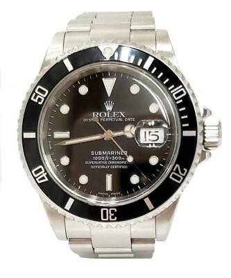 $ CDN10937.61 • Buy 40mm ROLEX OYSTER PERPETUAL SUBMARINER DATE STAINLESS STEEL 16610 T WATCH