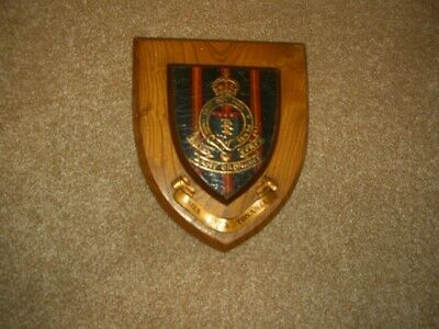 Vintage Royal Army Ordnance Corps  Commemorative BADGE Wood Wall Plaque • 25£