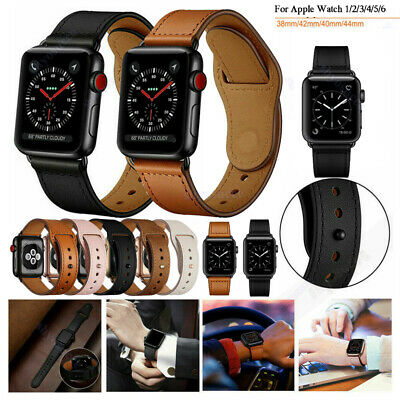 AU19.99 • Buy Leather Wrist Band Strap For Apple Watch IWatch Series 1 2 3 4 5 6 38/42/40/44mm