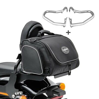 Set Crash Bar + Rear Bag For Indian Scout/ Sixty/ Bobber 15-20 STM6 • 164.42£