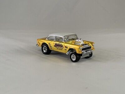 $33.99 • Buy LOOSE 2019 Hot Wheels RLC SELECTIONs 1955 Chevy Bel Air Gasser Bright Yellow RRs