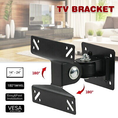 AU11.19 • Buy TV Wall Mount Bracket Swivel Tilt 14-24 Inch LED LCD VESA 45 75 AU