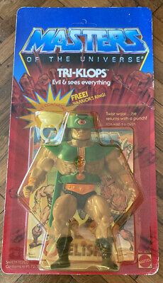 $449.99 • Buy MOTU VINTAGE TRI-KLOPS Masters Of The Universe MOC Sealed Ring He-Man Unpunched