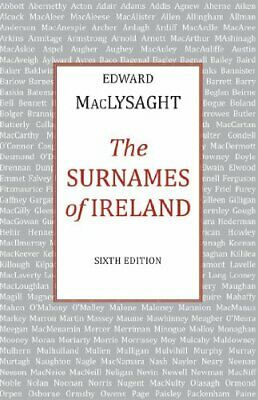 Surnames Of Ireland By MacLysaght, Edward Book The Cheap Fast Free Post • 11.99£
