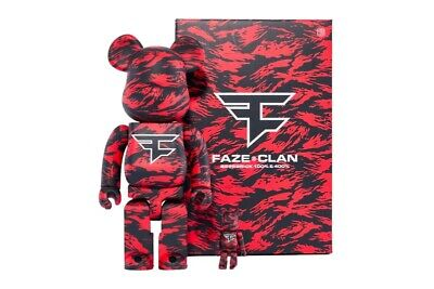 $250 • Buy FaZe Clan X BEARBRICK 400% & 100% Set LIMITED EDITION SOLD OUT!! 100% SEALED!!!!