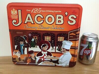 ROYAL APPOINTMENT-LARGE 125yr JACOB'S COLLECTORS TIN-KITCHENALIA-BISCUIT-STORAGE • 6.99£