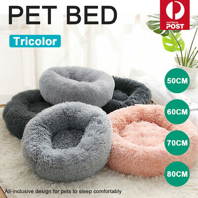 AU32.77 • Buy Pet Dog Cat Calming Bed Warm Soft Plush Round Nest Comfy Sleeping Kennel Cave SY