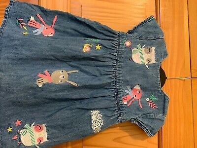 Blue Zoo Denim Dress 18-24 Months Great Condition 100% Cotton • 0.99£
