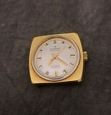 $ CDN100 • Buy Vintage Swiss Sarma Automatic Watch Case GP Automatic 25J Working As-is