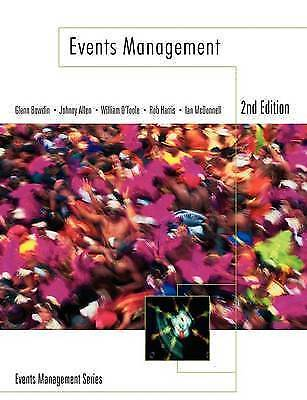 £10.50 • Buy Events Management By William O'Toole, Johnny Allen, Glenn A. J. Bowdin, Ian...