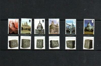 (E435)  Guernsey 2008 MNH Granite St Pauls Cathedral 6v Set Churches • 0.99£